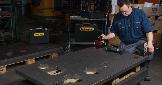 Emba Machinery uses Easy-Laser throughout its production