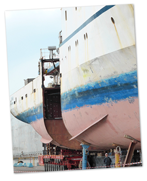 Measuring vessel hull