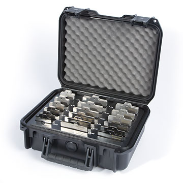 Case with shims